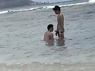 asian (gay) beach (gay) blowjob (gay)