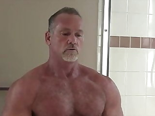 Daddy MICKEY COLLINS' Shower: HARD NIPPLES-NICE HOLE-HJ-CUM 13:49 2020-05-25