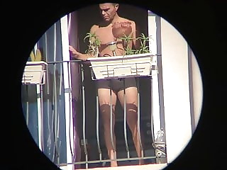 Neighbor strip tease at his window, undresses in public 0:31 2020-05-29