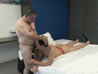 Grandpa & Chico cumshot daddy big cock