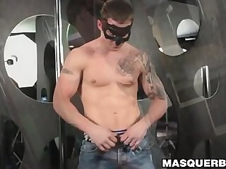 Tattooed stud with sexy muscles teases and masturbates solo 6:59 2020-06-26