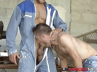 Working with Wood - Stany Falcone & Picwick big cock hunk muscle