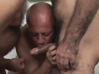 The white shirt and sex of three mature gays 23:33 2016-12-07