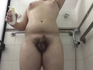Chubby Teen washes Cock and Asshole 6:18 2019-03-09