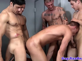 Gay orgy closeup with tattooed hunks and jock gay cum tribute gay group sex gay hd